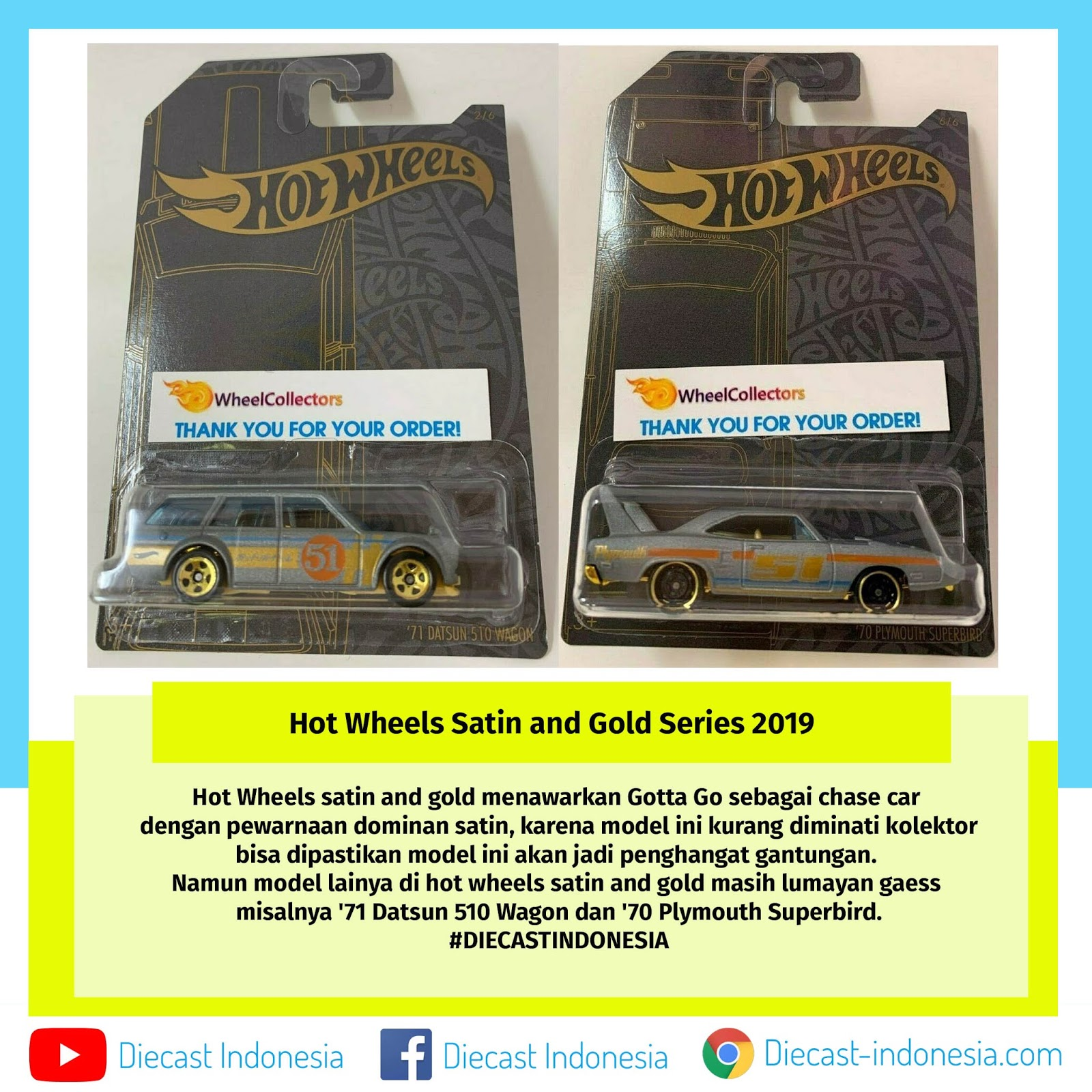 Hot Wheels Satin And Chrome Series 2019 Diecast Indonesia