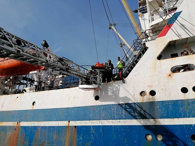 Rescatan a un marinero ruso, Las Palmas de Gran Canaria