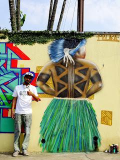 Grafiteiro durante edição 2015 do evento Cultura & Conceito