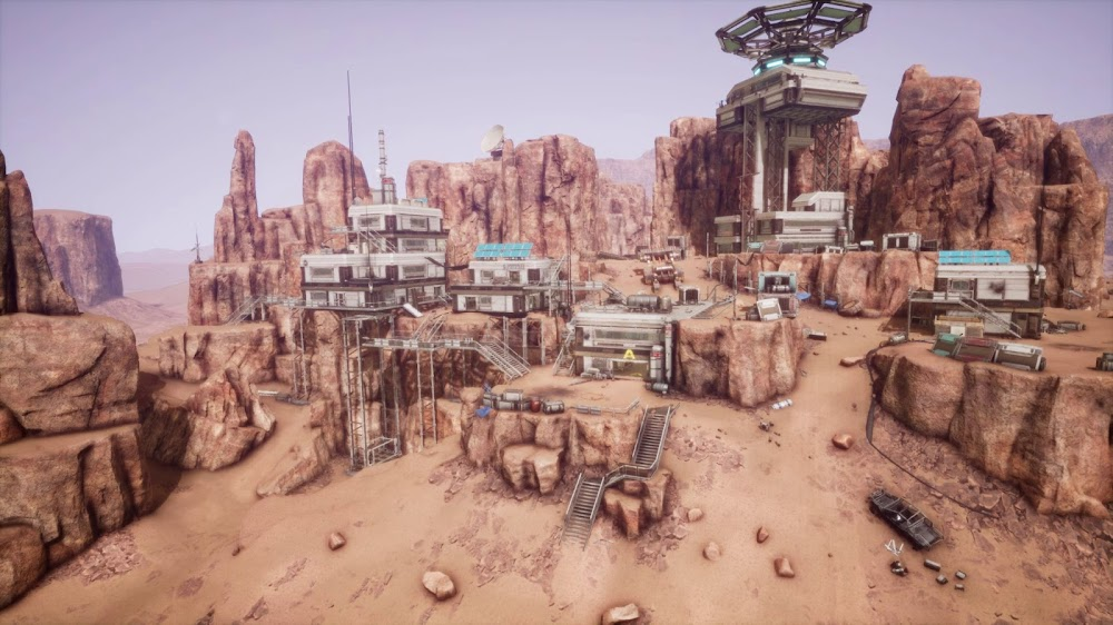 Memories of Mars game image - human base on the hills