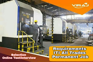 ITI Permanent Job Vacancy in Viraj Profiles Limited Tarapur, Maharashtra Selection By Online Test/Interview