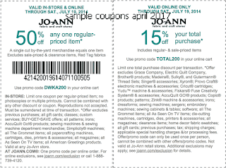 Joann coupons april