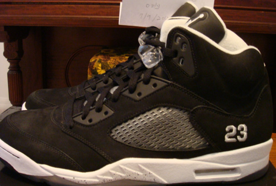 meet 529a0 b7145 Air Jordan 5 Retro Black White Sample Available On eBay