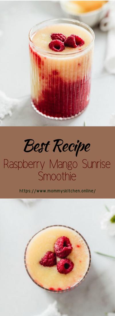 Raspberry Mango Sunrise Smoothie #healthydrink #easyrecipe #cocktail #smoothie
