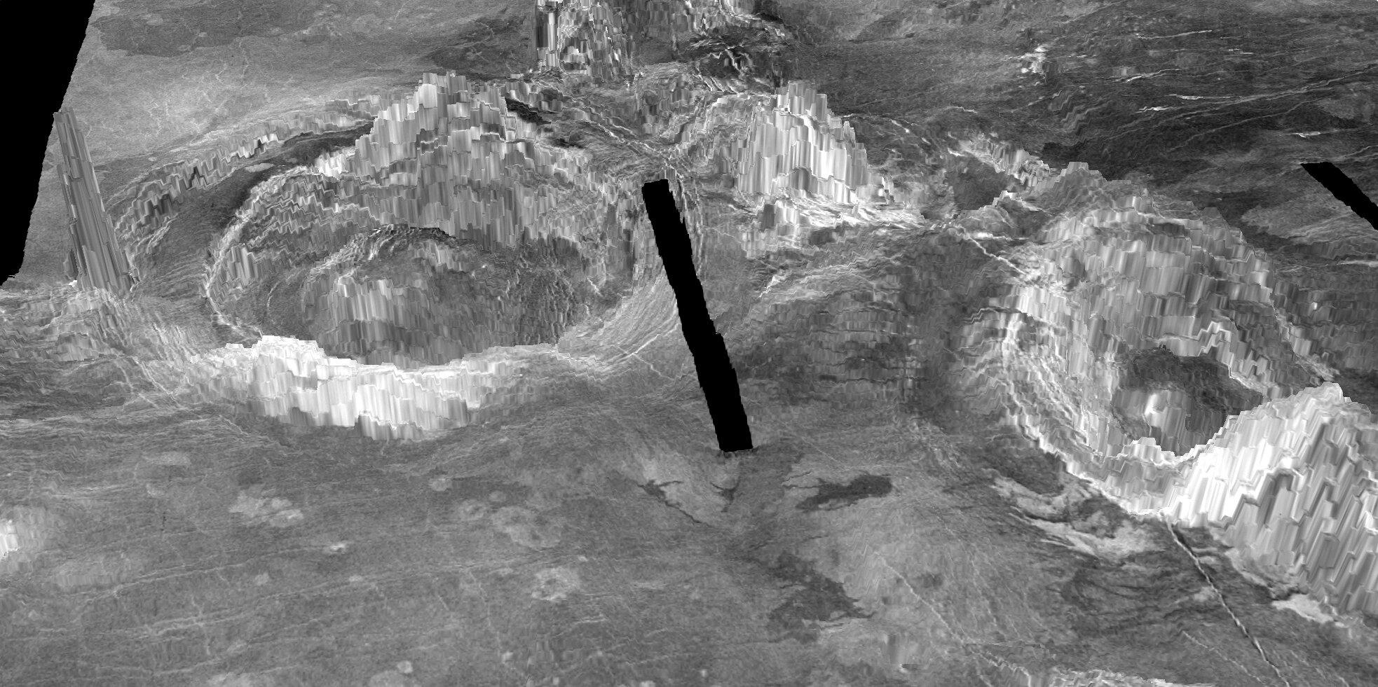 estrutura vulcânica ativa em Vênus