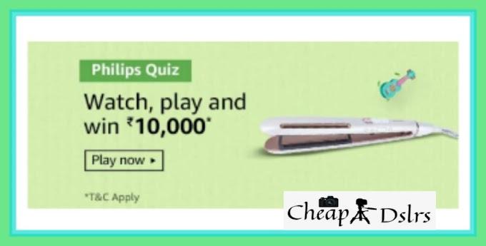 Amazon Philips Quiz Answers Win – Rs.10000