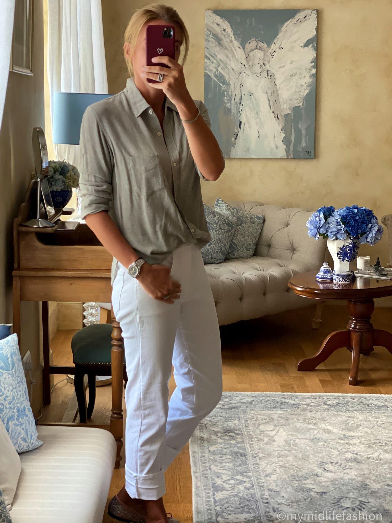 my midlife fashion, Baukjen the boyfriend jean, Isabel Marant Etoile shirt, French sole India glitter ballet pump