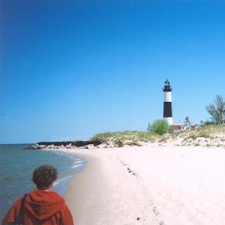 Big Sable Lighthouse on Lake Michigan