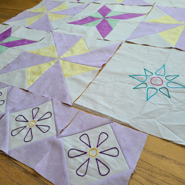 Grace in the Meadow QAL blocks | DevotedQuilter.com