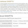14-27 Februari 2020 Pendaftaran SNMPTN Dibuka, Berikut Persyaratannya!