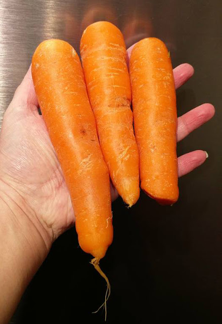 Three straight carrots