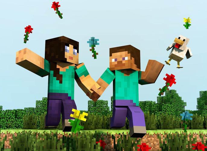 Essa imagem é para os verdadeiros fans do Minecraft, sensacional!