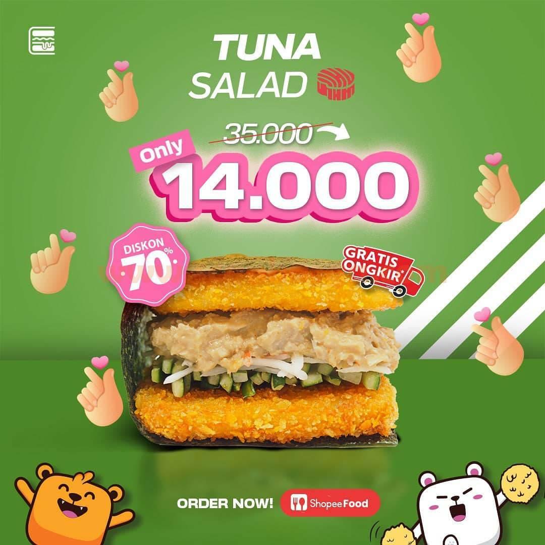 BURGUSHI Promo MENU BARU - Tuna Salad Hanya Rp 14.000 via SHOPEE FOOD