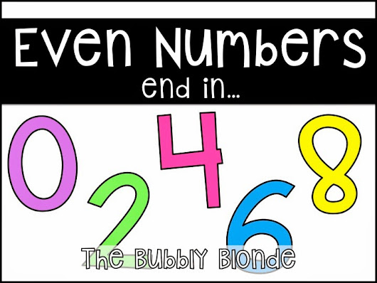Odd & Even Numbers with Freebies
