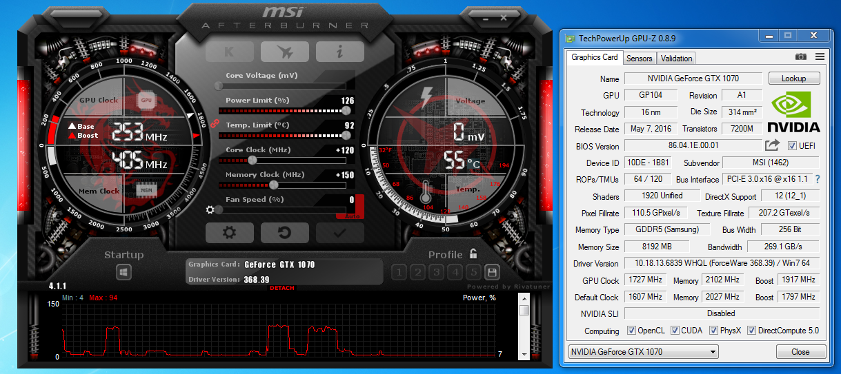 Msi Gtx 1070 Gaming X 8g Graphics Card Review Computers