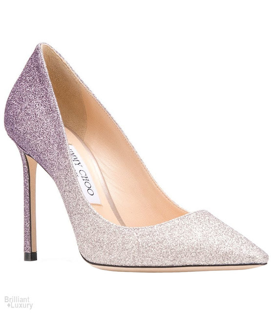 Brilliant Luxury♦Jimmy Choo Glittered Pumps