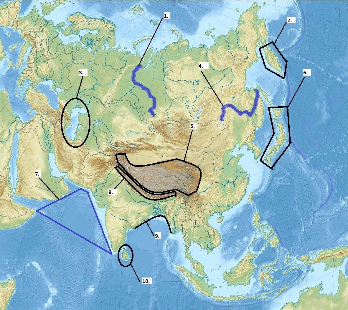 Blog De Sociales Abraham Jesus Fernandez Physical Map Of