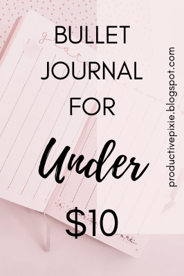 A Good Quality Bullet Journal for Under $10