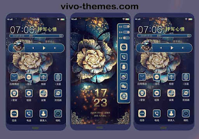 Golden Black Color Theme For Vivo Android Smartphone