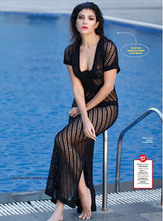 Archana Vijaya IPL T20 Host and a VJ In a Stunning Transparent Net Gown FHM India April 2016 Magazine