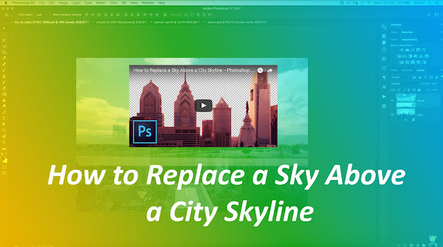 How to Replace a Sky Above a City Skyline