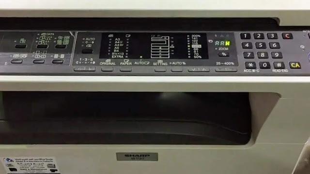 error code H2 on sharp AR-5618