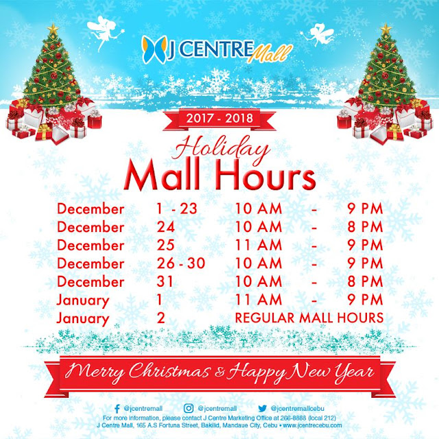 Mall Hours J Centre Mall Christmas 2017