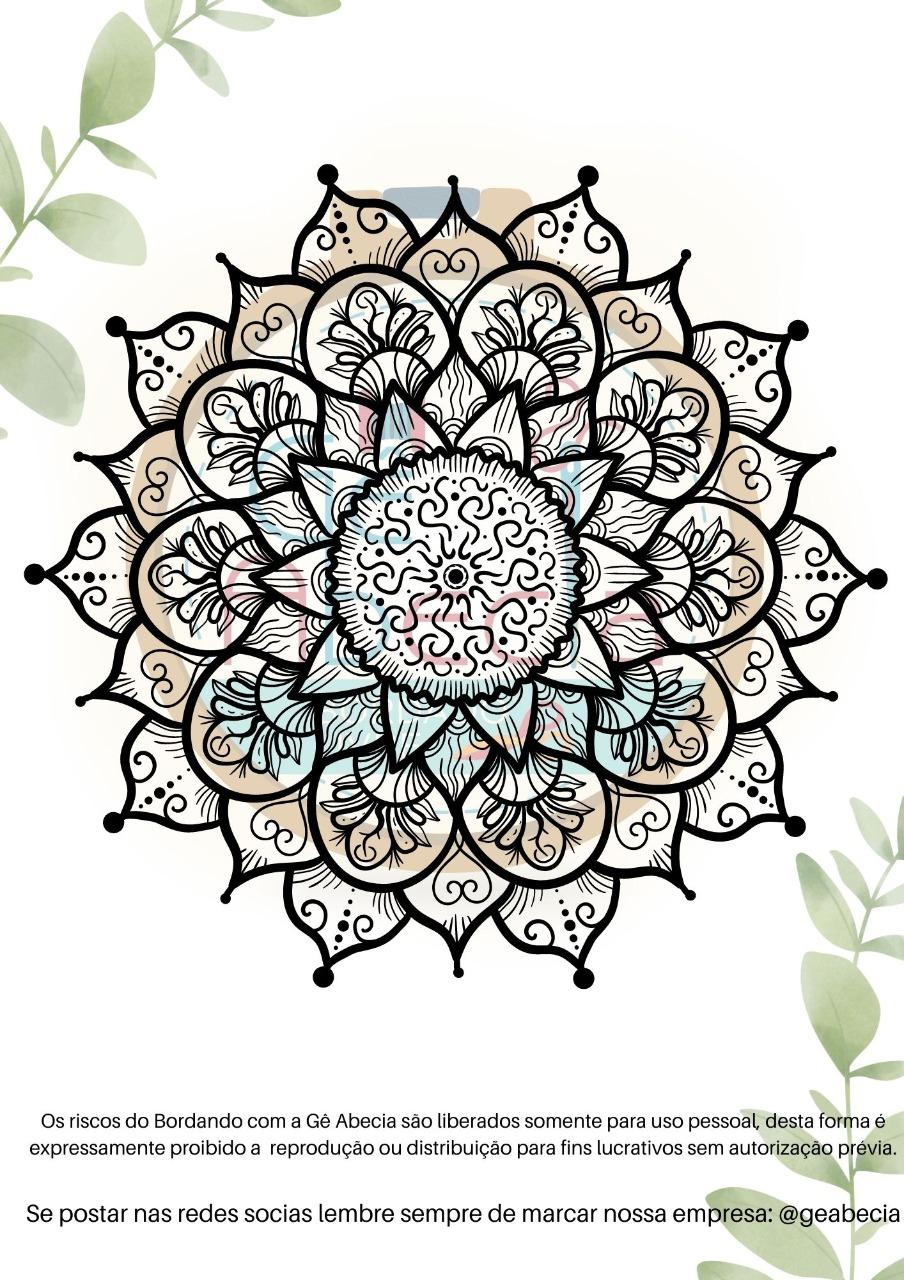Risco para Bordado Modelo Mandala