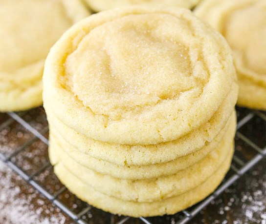 BEST SOFT AND CHEWY SUGAR COOKIES #sweets #desserts