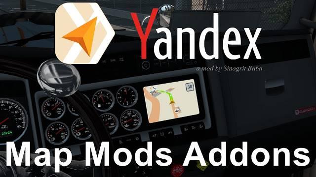 sinagrit baba ats mods, ats yandex navigator normal & night version map mods addons