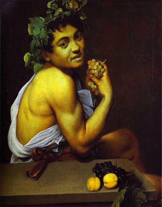 """""""O Baco doente"""", de Caravaggio - excursões com guias particulares em português"""