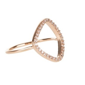 Rose Gold Organic Shape Ring