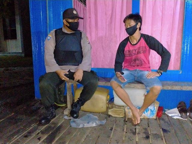 Patroli Malam Minggu, Polsek Jabiren Raya Jaga Kamtibmas di Tengah Wabah Covid-19
