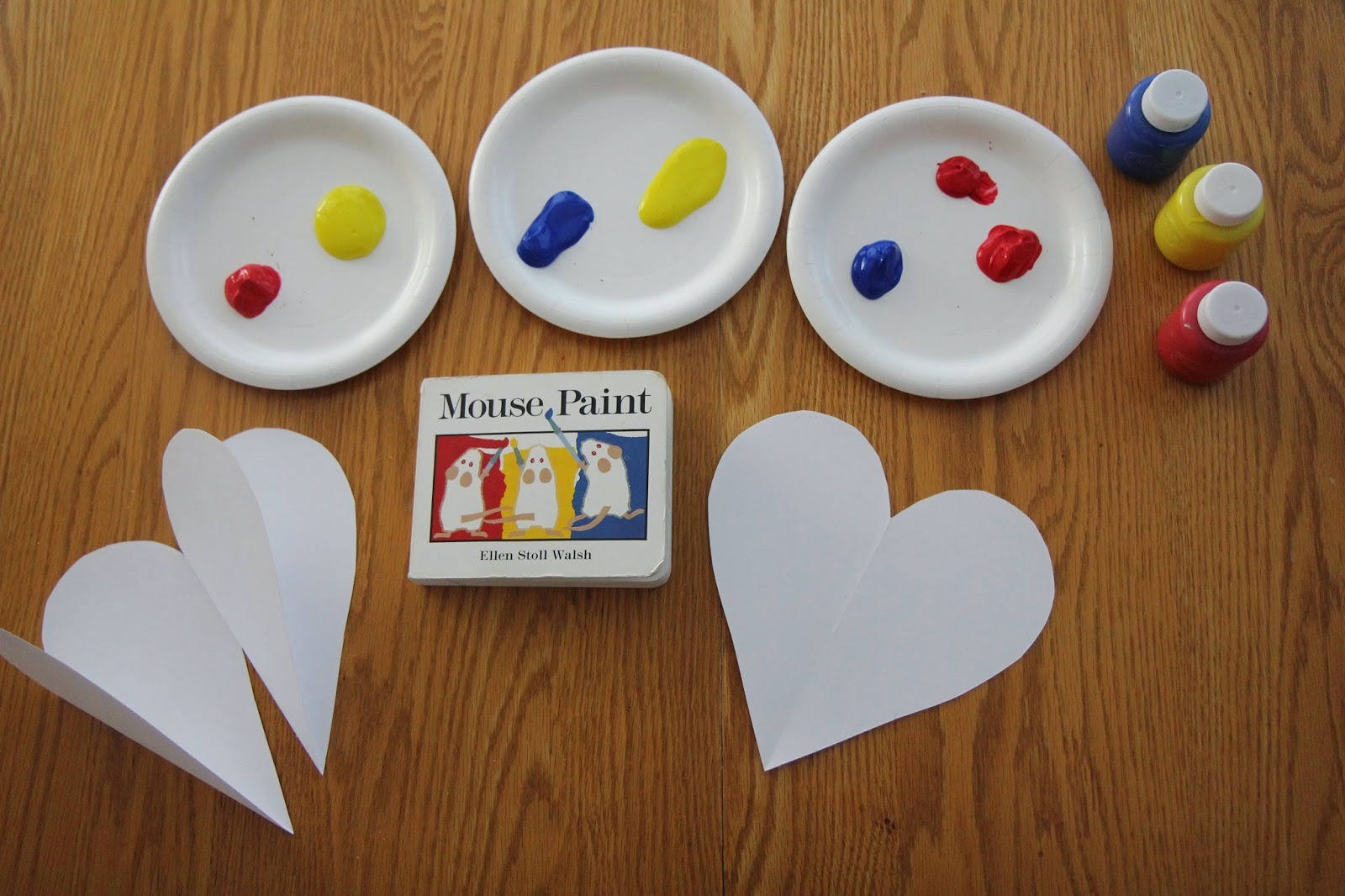Toddler Approved Surprise Color Mixing Heart Craft For