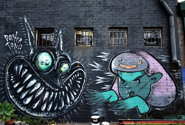 Marrickville Street Art | Dr Tong & Lottie Alexis