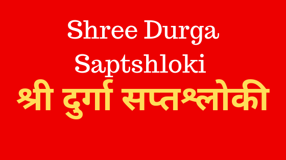 सप्तश्लोकी दुर्गा | Shree Durga Saptshloki | Durga Paath |