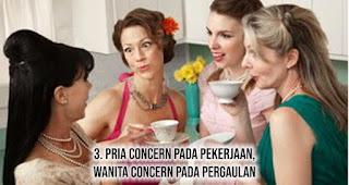 Pria concern pada pekerjaan, wanita concern pada pergaulan
