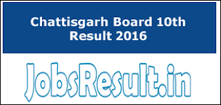 CGBSE 10th Result 2016