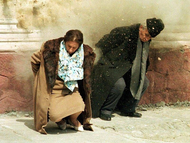 Romania's communist leader was charged with genocide and executed along with his terrible wife Elena.