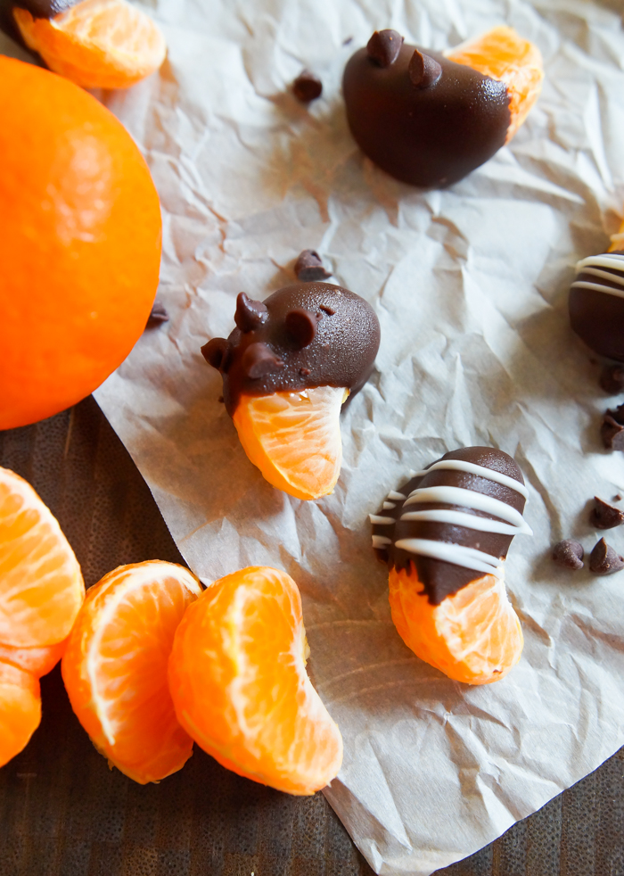 chocolate-covered clementines