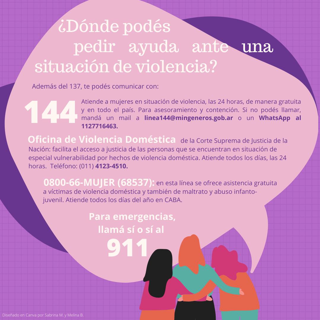 Dónde pedir ayuda ante situaciones de violencia
