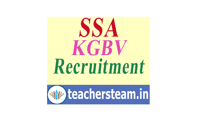 AP SSA KGBV Recruitment Notification - Application Form