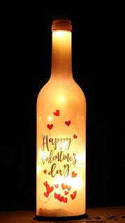 Happy Valentine Day Led Wine Bottle