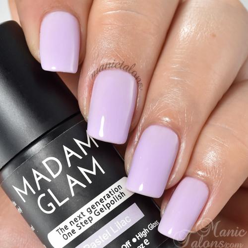 Madam Glam Gel Polish Pastel Lilac Swatch