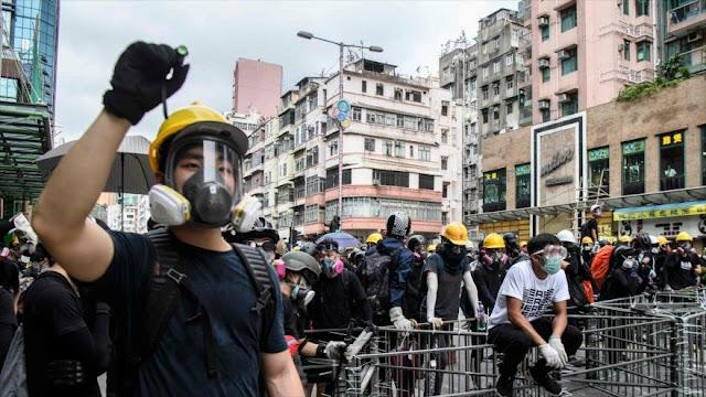 China detecta 'signos de terrorismo' en protestas de Hong Kong