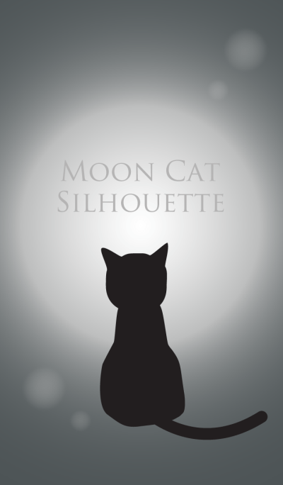 Moon Cat Silhouette