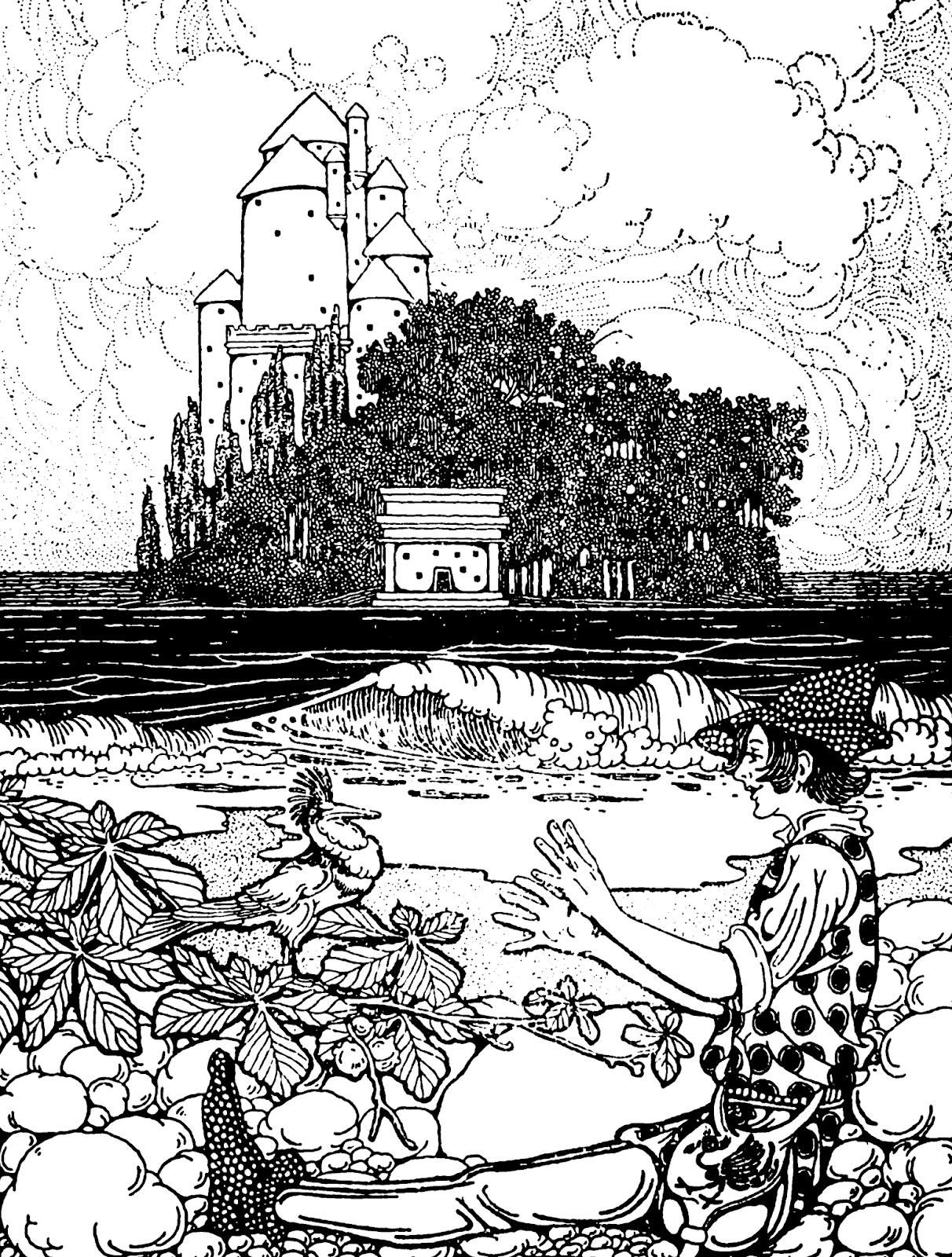 Free Printable Fairy Tale Castle