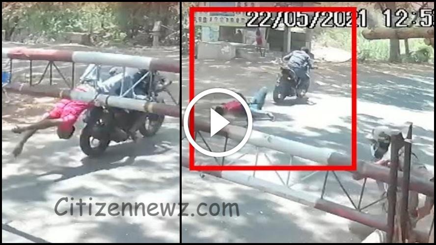 இரும்புத் தடுப்பில் மோதி தூக்கி வீசப்பட்ட இளைஞர்- பதைபதைக்கும் CCTV காட்சிகள்