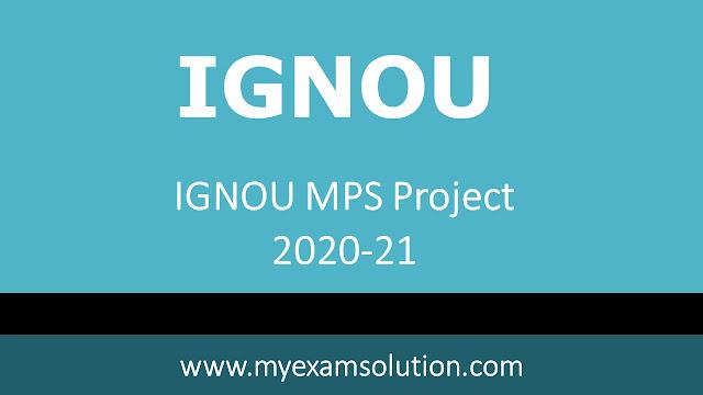 IGNOU MPS Project 2020-21