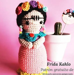 PATRON GRATIS FRIDA KAHLO AMIGURUMI 45050